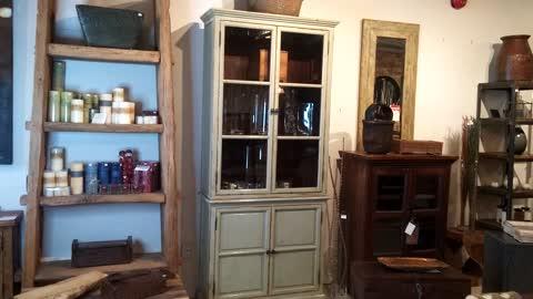'Ca 1940 - Solid Poplar Display Cabinet ' scene